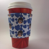 Tina Belcher Candy Hearts Beverage Cup Cozy