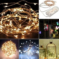 Outdoor Garden Christmas Decoration String Fairy Fantastic Light Battery Operated Christmas Light Party Wedding Decor Lamp