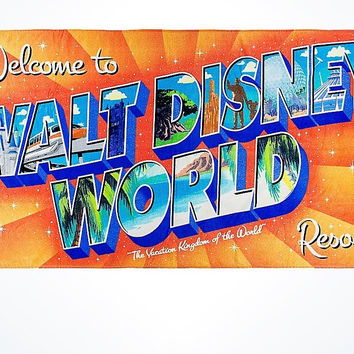 Disney Parks Welcome to Walt Disney World Resort Beach Towel New with Tags