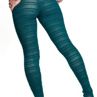 Dance & Yoga  Sexy Hipster Tights Stretch Knit Shadow Stripe Unique Mesh KD dance New York Made In USA
