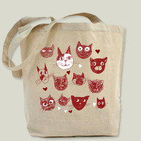 i love cats Tote Bag by BunnyNoirDesigns on BoomBoomPrints