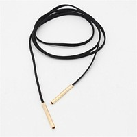 Long Black Leather Choker Jewlery Leather Necklace Women Accessories Sale Chocker Necklace Fashion Necklaces For Women 2016 New