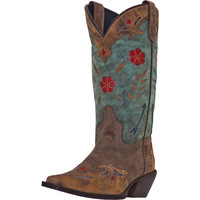 Laredo Womens Miss Kate Distressed Leather Cowgirl Boots