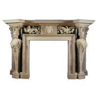 A Pair Of Marble Chimneypieces Possibly Designed By William Kent