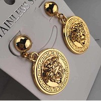 Versace Stylish Women Delicate Round Stud Earring Jewelry
