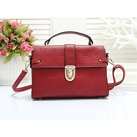 LV hot selling lady's casual shoulder bag fashion solid color embossed shopping bag #4