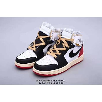AJ1 AIR JORDAN 1 Trending Women Casual High Help Flat Sport Shoes Sneakers