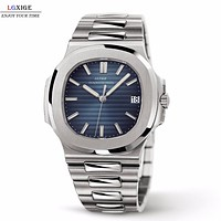 LGXIGE Watch Mens Top Brand Luxury Full Steel Military Wrist Watch Men Patek 30m Waterproof Business Luminous Quartz Clock 2018