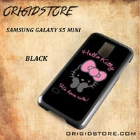 Hello Kitty Snap on 2D Black and White Or 3D Suitable With Image For Samsung Galaxy S5 Mini Case