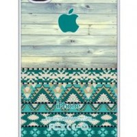 iZERCASE Unique Aztec Old Wood Pattern Rubber iphone 4, iphone 4S case - Fits iphone 4/4S T-Mobile, AT&T, Sprint, Verizon and International