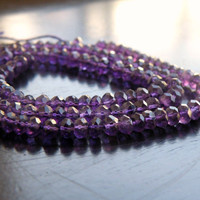 49% Off Sale Amethyst Rondelle Gemstone Purple Amethyst Faceted 5.5mm 42 beads 1/2 strand