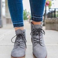 Seize the Day Booties - Smoke