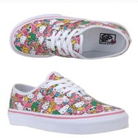 Womens Vans Hello Kitty Shoes Authentic Lo Pro Black Trainers Sanrio Sizes: Women: 7.0, Men: 5.5