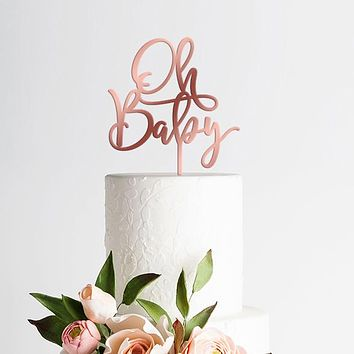 Oh Baby Cake Topper, Baby Shower