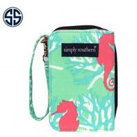 Simply Southern Seahorse Wallet - Teal