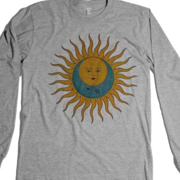 Sun/Moon-Unisex Heather Grey T-Shirt