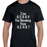 Adele Hello I Am Sorry For Breaking Your Heart Arf Mens T Shirt
