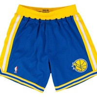 ONETOW Golden State Warriors 1995-1996 NBA Authentic Shorts
