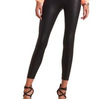 High-Waisted Liquid Leggings by Charlotte Russe - Black
