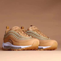 [Free Shipping ] Nike Air Max 97 Sand Gold Shoes Man Sneakers AJ1986-200 Basketball Sneaker