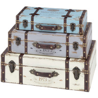 Trunk with Exceptional Looks & Intrinsic Details - Set of 3