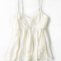 AEO 's Shimmery Lace Tank