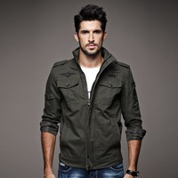 Plus Size Men's Fashion Cotton Training Jacket [10824551555]