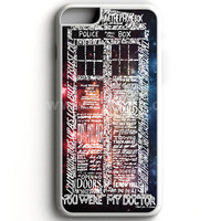 Word Art Tardis Doctor Who In Galaxy iPhone 7 Case | aneend