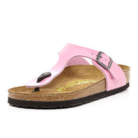 River Island Womens Pink Birkenstock T bar mule sandals