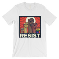 OFFICIAL #RESIST Unisex short sleeve t-shirt