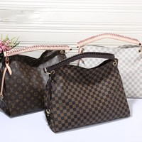 Fashion LV Women Shopping Leather Handbag Tote Satchel Bag H-MYJSY-BB