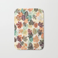 Autumn Leaves 2 Bath Mat by Fimbis