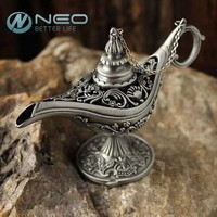 "NEO 12cm(4.7"") Classic Rare Legend Aladdin Magic Genie Lamps Incense Burners Retro Wishing Oil Lamp Home Decor Gift"