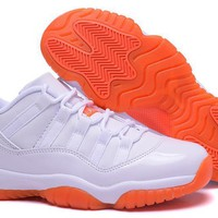 Air Jordan 11 Retro Low White/orange | Best Online Sale