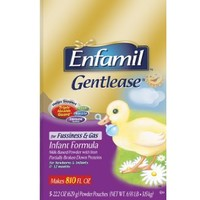 Enfamil Gentlease Infant Formula for Fussiness and Gas, 22.2 Ounces (Pack of 5) = 111 Total Ounces...