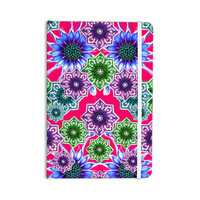 "Fernanda Sternieri ""Flower Power in Red"" Magenta Floral Everything Notebook"