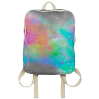 The Soul Becomes Dyed (Galactic Watercolor Abstract) Backpack created by soaringanchordesigns   Print All Over Me