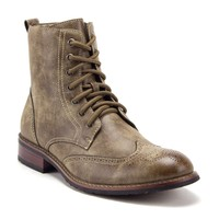 Men's 939A Wing Tip Ankle High Military Combat Fashion Motorcycle Dress Boots