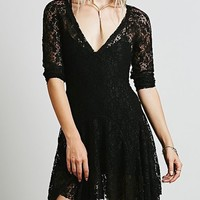 Hollow Out Lace Modern Skater Dress