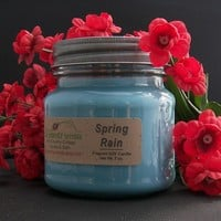 SPRING RAIN SOY Candle - Highly Scented