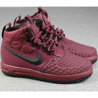 Nike Lunar Force 1 Duckboot 2018 men and women tide brand casual fashion sports running shoes F-A-FJGJXMY wine red
