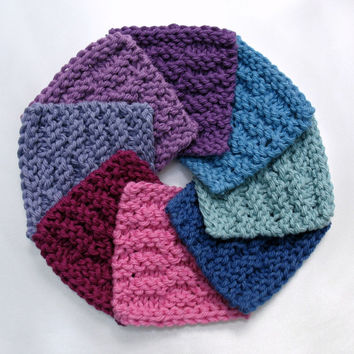Face Scrubbies Reusable Facial Scrubbie Cotton Pad Mini Knitted Facecloth Makeup Remover Pads Bright Jewel Tones