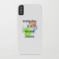 every day is a second chance iPhone Case by Love from Sophie
