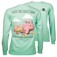 Southern Couture Enjoy The Little Things Dogs Truck Comfort Colors Long Sleeve T-Shirt