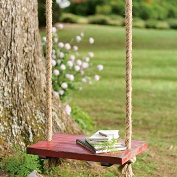 Rope Tree Swing With Wooden Seat - Plow & Hearth
