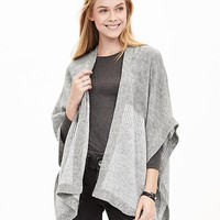 Banana Republic Womens Birdseye Sweater Poncho