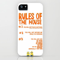 funny despicable me rules...gru iPhone & iPod Case by studiomarshallarts