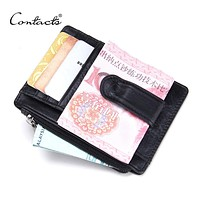New Design High Quality Genuine Leather Money Clips Fashion Men Wallets with Coins Wallets