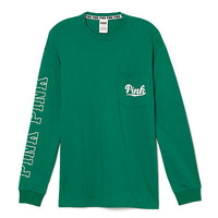 Long Sleeve Campus Pocket Tee - PINK - Victoria's Secret