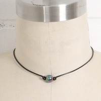 Black Pearl on a Cord Necklace
